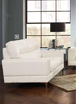Coaster Home Furnishings 503818 Casual Loveseat, White/White