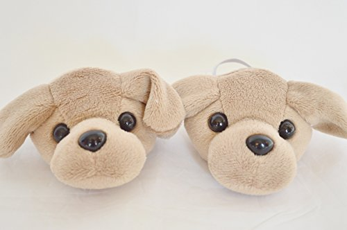 BROWN LABRADOR SLIPPERS FOR AMERICAN GIRL DOLLS AND BITTY TWINS