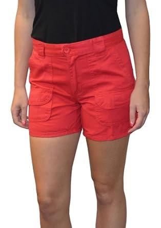 Sabree Missy Cargo Short White-14 at Amazon Women's Clothing store: