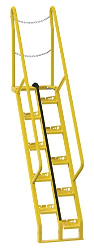 Vestil ATS-9-56 Alternating Tread Stair with 15 Steps, Steel, 150-1/2