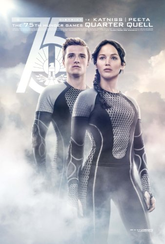 "Hunger Games: Catching Fire (2013) Movie Poster Reprint 13"" x 19"" Borderless SHIPS FLAT! Katniss Peeta Quarter"