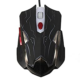 Pink Lizard 6 Keys 2400 DPI Adjustable USB Wired Optical Gaming Mouse