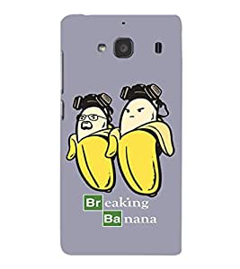 EPICCASE Breaking banana Mobile Back Case Cover For Mi Redmi 2s (Designer Case)
