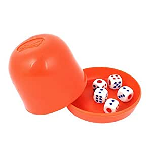 KTV Special Straight Game Party Decider 5 Craps Shaker Dice Cup Red
