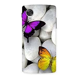 Butterflies white stones Back Case Cover for Google Nexsus 5