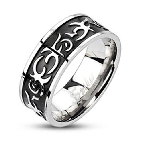 Donna BlackAmazement, uomo anello in acciaio inox Tribals Biker Gothic Trend Style Fantasy Tribal, acciaio inossidabile, 63 (20.1), cod. R-10041-10
