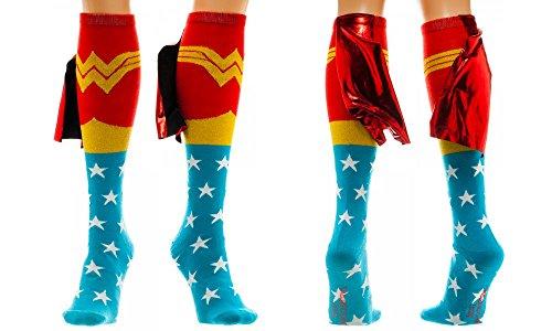 Wonder Woman Cape Knee High Socks 1 x 1in