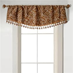 Deco Window Valance with Trimming (Length-49