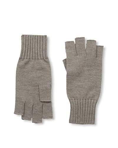 Portolano Men's Merino Fingerless Knit Gloves, Camel