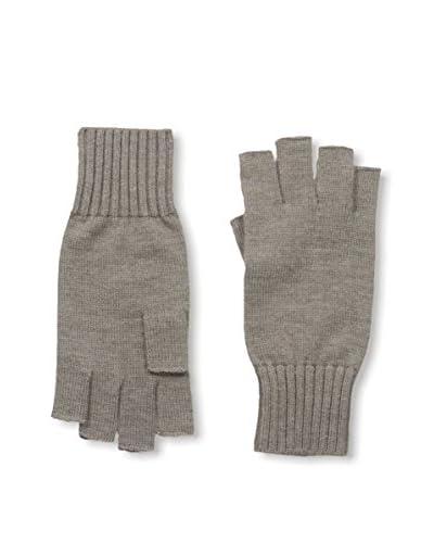 Portolano Men's Merino Fingerless Knit Gloves, Camel