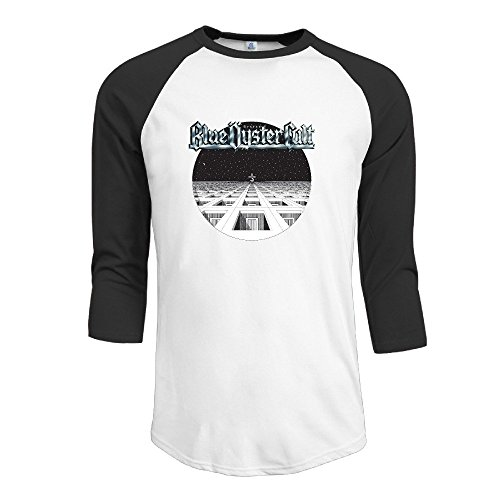Fashion Men's Blue Music Oyster Poster Cult 3/4 Sleeve Black [Size L (Cult Headphones compare prices)