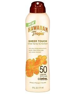 Hawaiian Tropic Sheer Touch Clear Spray Sunscreen SPF 50: 6 OZ