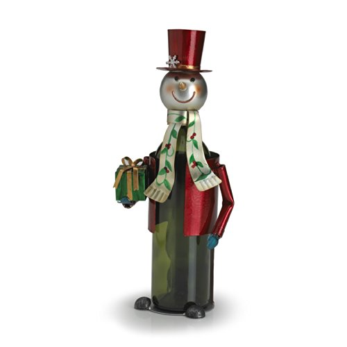 Pfaltzgraff Winterberry Iron Snowman Wine Bottle Holder