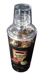Turin Chocolates Jose Cuervo Liquor Filled Chocolates Christmas Holiday Gift Container Martini Shaker 10.5 Ounce