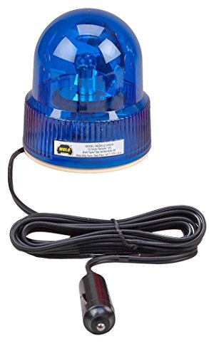 Wolo (3105-B) Beacon Light Rotating Warning Light - 12 Volt, Blue Lens