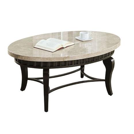 Acme 80071 Lorencia Marble Top Coffee Table, White