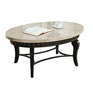 Acme 80071 lorencia marble top coffee table for Coffee tables amazon
