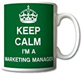 Keep Calm I'm An Marketing Manager Mug Cup Gift Retro