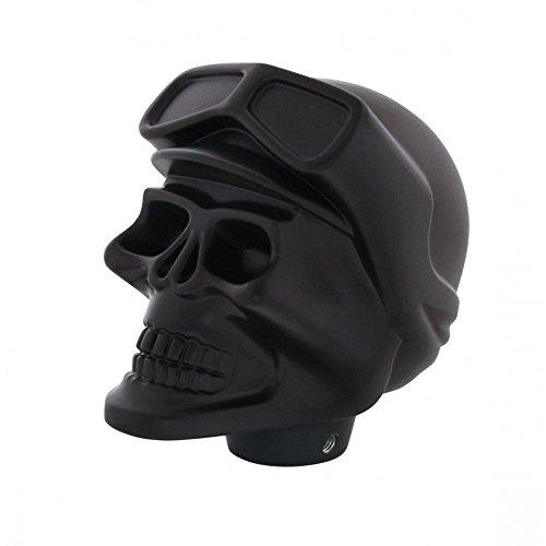 Universal Black Aluminum Skull Shift Knob Hot Rat Street Rod Custom Vintage (Hot Rod Shift Knob compare prices)