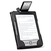 MiniSuit Leather Folio Case Cover with LED Reading Book Light for Amazon Kindle 4 4th Gen by MiniSuit