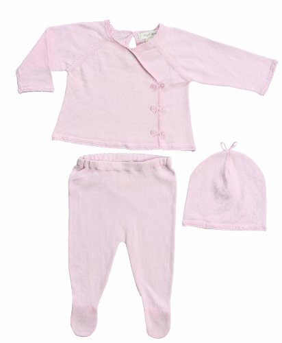Angel Dear Neutral Baby Kimono Sweater Gift Outfit Newborn Take Me Home Set,Pink (Newborn, Baby Pink) front-1071748