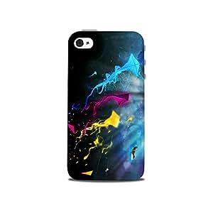 Mikzy Multicolour Kites Printed Designer Back Cover Case for Iphone 4/4S (MultiColour)