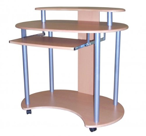 Buy Low Price Comfortable Contemporary Beech Computer Cart (Beech) (33″H x 36″W x 25″D) (B003S9Z352)