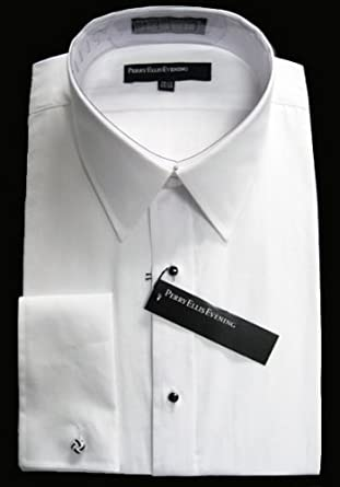 Perry Ellis Evening Collection - Non Pleated 100% Cotton Laydown Collar Tuxedo Shirt (16 Neck - 32/33 Sleeve)