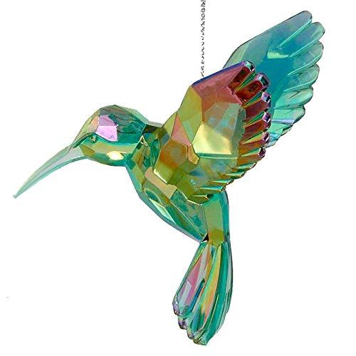 Acrylic Hummingbird Ornament Green