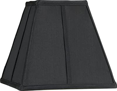 Square Black Lamp Shade 5.25x10x9.5 (Spider)
