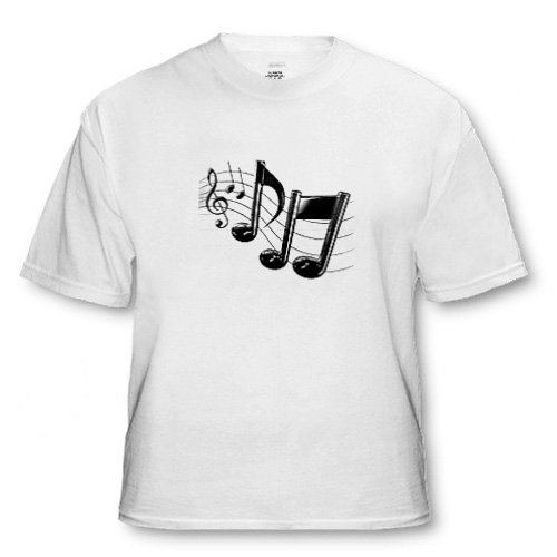 Music Notes - Adult T-Shirt XL