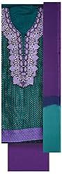Pal-Pal Women's Banaras Jacquard Dress Material (PAL-PAL-C01, Turquoise & Purple)