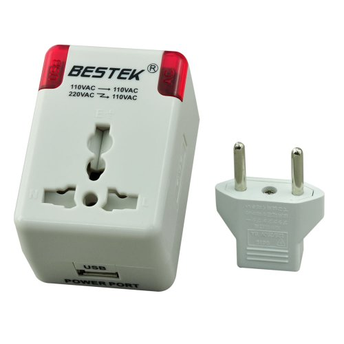 Bestek® Universal Travel Adapter International Voltage Converter Step Down Ac220 To Ac110 Adapter Usb Charger Wall Adapter Converter Travel Charger Adapter Dc Charger Cell Phone Mobile Charger Home Ac Iphone Charger Ipod Samsung Charger Pda Htc Charger Bl