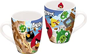 Angry Birds - Taza con diseño de Angry Birds (12 x 8,5 x 10 cm, con caja de regalo)