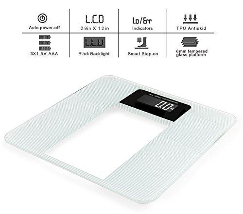 Frk digital body weight bathroom scale high accuracy with for Big w bathroom scales