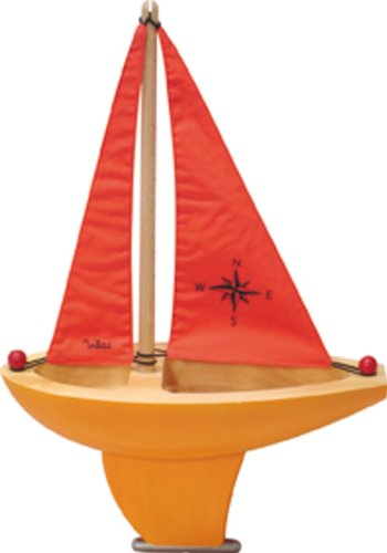 Vilac Large Sailing Boat, Orange