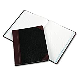 Columnar Book, Record Rule, Black Cover, 150 Pages, 10 3/8 x 8 1/8, Sold as 1 Each