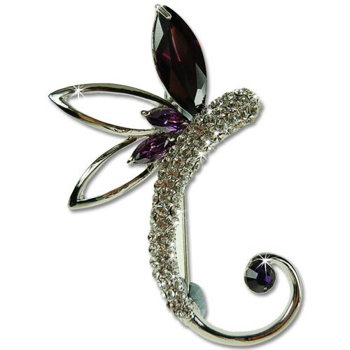 Stylized Dragonfly Swarovski & Czech crystals Brooch; Swirl of a beautiful Dragon fly brooch in true Parisian Haute couture style. Stunning pin brooch for Bridal or Costume jewellery. An amazing price for exclusive brooches jewellery! Wedding jewelry,