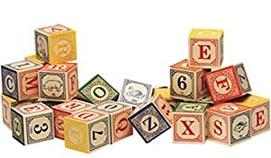 Uncle Goose Classic Embossed Alphabet Blocks ABC