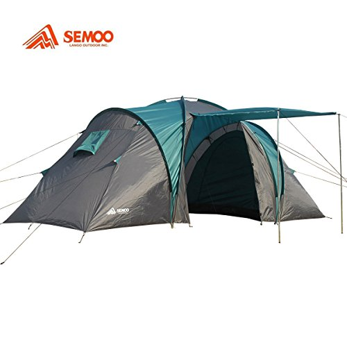 All images of Semoo Waterproof 4-Person2 Doors2 room1 Vestibule 3 Season Family Tent For C&ing with Carry Bag 2000mm  sc 1 st  Best Family C&ing Tents Review & Best Family Camping Tents Review: Semoo Waterproof 4-Person2 ...