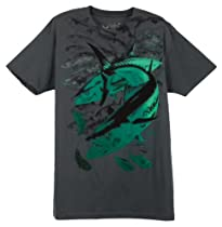 Guy Harvey Slim Fit Kingfish T-Shirt CHARCOAL GREY Lg