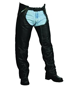 Milwaukee Motorcycle Clothing Company The Cruiser Leather Unisex Chaps (Black, X-Small)
