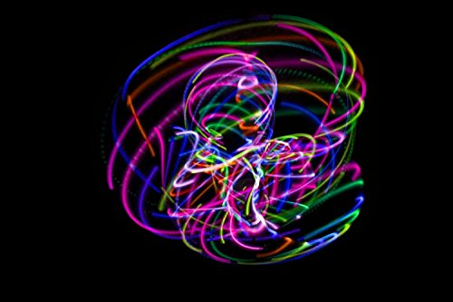 The Hoop Shop® LED Hula Hoop - 28 Color Changing LED Lights - Multiple Sizes Available - Technicolor Prism