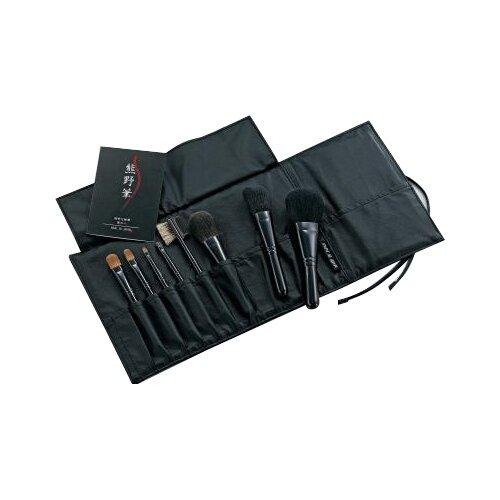 ゼニス 化粧筆セット 熊野筆 熊野化粧筆 8本セット 本革ケース付 KFiーK508
