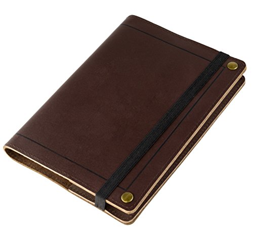 Red Co Classic Soft Genuine Leather Journal with Black Strap, 5