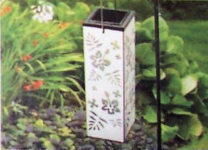 """""""Abc Products"""" - Color Changing ~ Floral Led Solar Lantern ~ On Shepherd'S Hook - Outdoor Pathway Light - On At Night - Off At Dawn (Non-Corrosive - Automatically Changes Color From White To Red, Blue And Green)"""