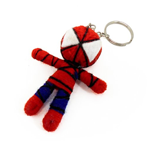 [Marvel Small Spiderman Voodoo String Doll Keyring Keychain] (Bride Of Frankenstein Costume Plus Size)