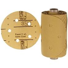 "3M Stikit Paper D/F Disc Roll 236U, PSA Attachment, Aluminum Oxide, 5"" Diameter, P150 Grit (Pack of 1)"