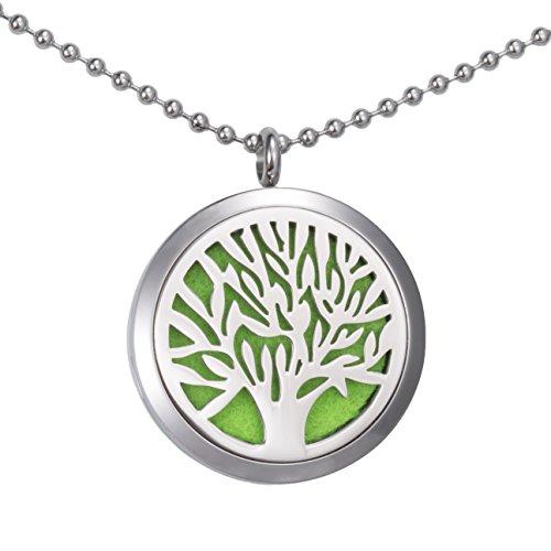 Beste-Xmas-Geschenk-fr-Sie-Meilanty-Damen-Halskette-60cm-Tree-of-life-le-Diffusor-Aromatherapie-mit-6-Pads-WZ-E01