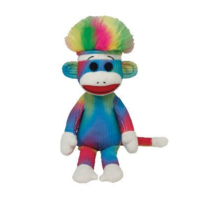 Ty Beanie Baby - Rainbow Sock Monkey